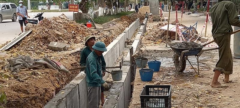 Thanh Hóa: Thị xã Bỉm Sơn triển khai xây dựng tuyến dường Trần Phú