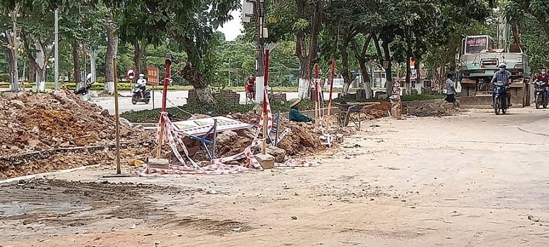 Bỉm Sơn - Thanh Hóa: Cận cảnh công trình cải tạo, nâng cấp tuyến đường Trần Phú