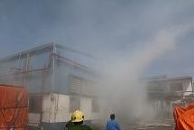 Đã xác định nguyên nhân cháy kho chứa hàng của một công ty trong KCN Lễ Môn