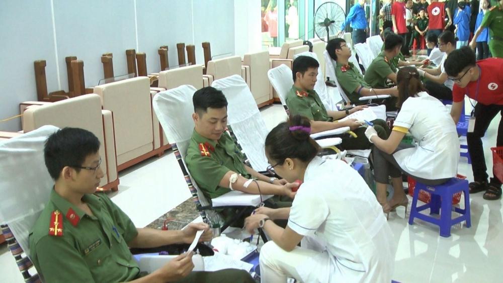 Công an tỉnh Thanh Hóa tham gia ngày hội hiến máu tình nguyện