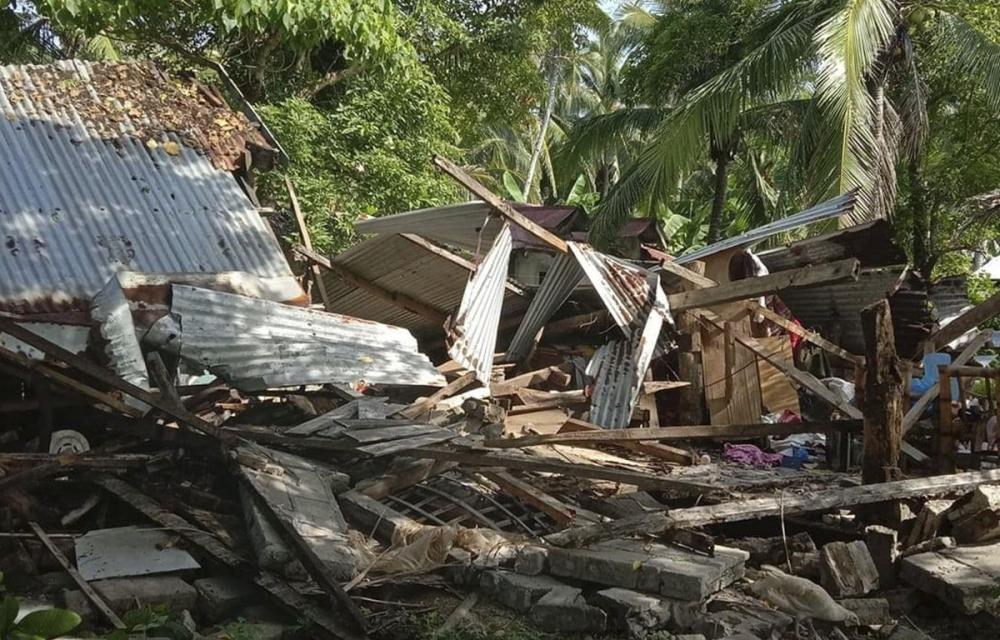Động đất mạnh tại Philippines khiến 1 người chết, nhiều nhà cửa hư hại