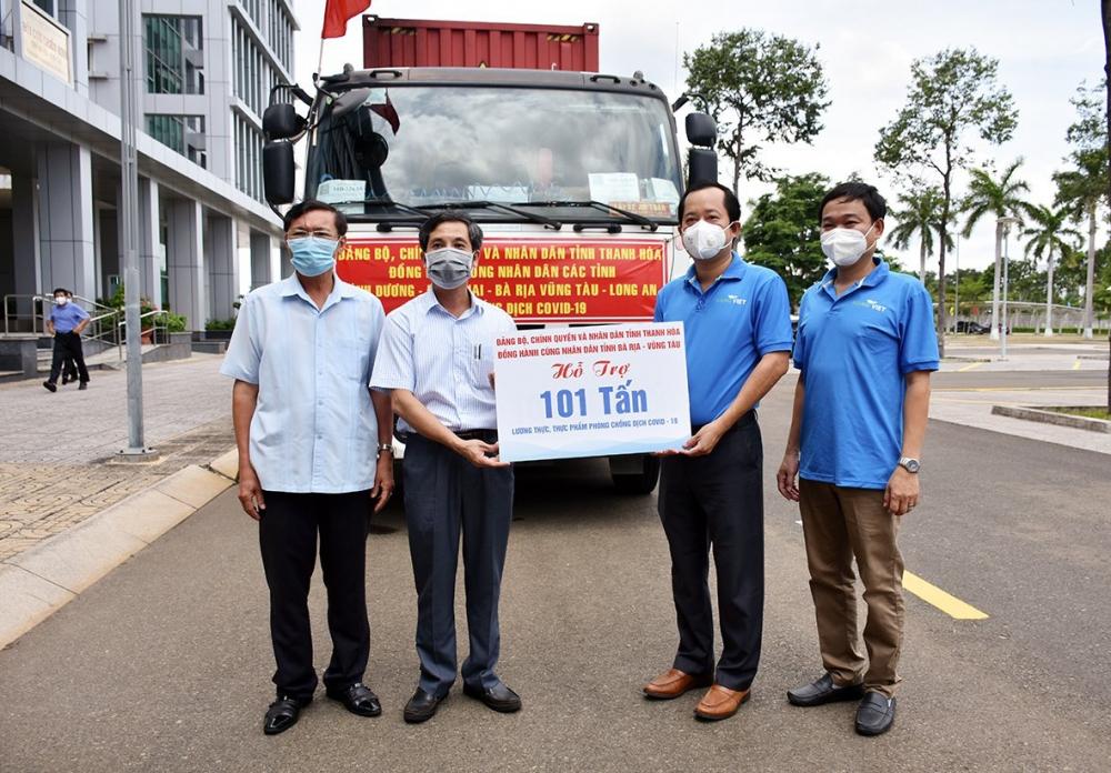 Thanh Hóa hỗ trợ tỉnh Bà Rịa Vũng Tàu hơn 100 tấn lương thực, thực phẩm