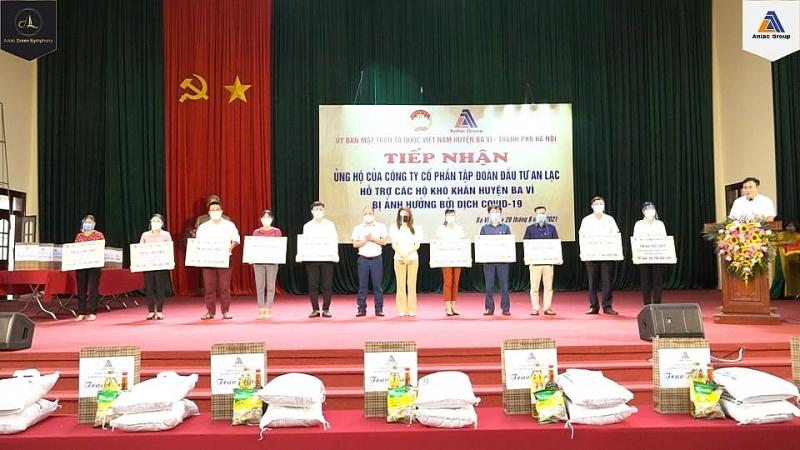 Tập Đoàn An Lạc Chung Tay Hỗ Trợ Công Tác Phòng, Chống Dịch Covid-19 Tại Huyện Ba Vì