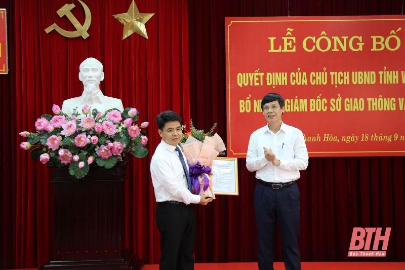 Sở GTVT Thanh Hóa có tân Giám đốc