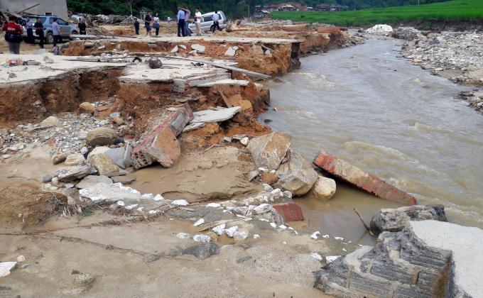 Tỉnh Thanh Hóa hiện có gần 10.000 hộ dân vùng có nguy cơ lũ quét, sạt lở. Ảnh: Võ Dũng.