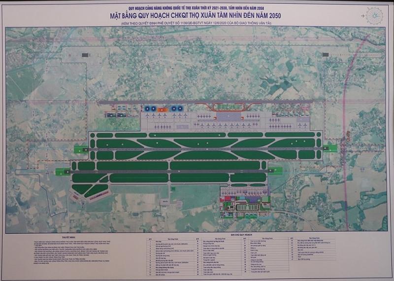 Cảng hàng không quốc tế Thọ Xuân (Thanh Hóa) được quy hoạch mở rộng