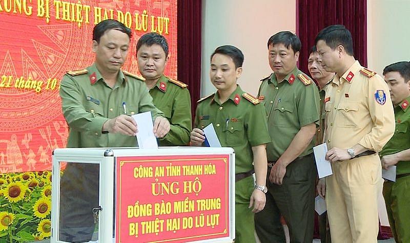 Công an tỉnh Thanh Hóa phát động ủng hộ đồng bào lũ lụt