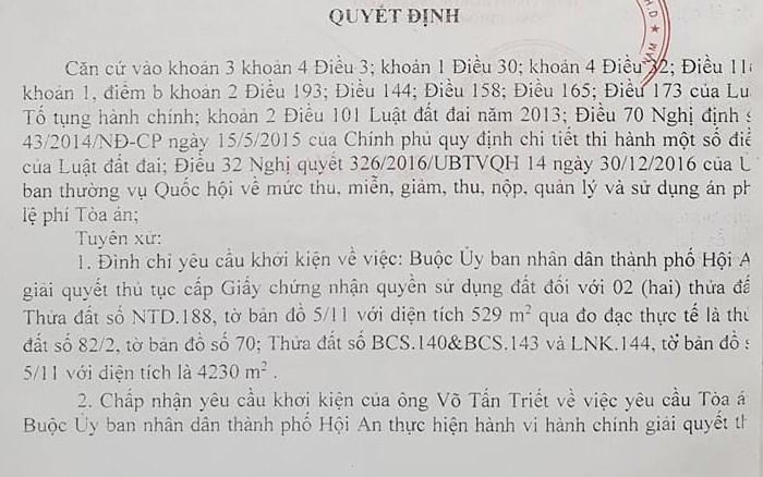 quang nam thua kien 2 ho dan chinh quyen tp hoi an van chay i khong chiu thi hanh an