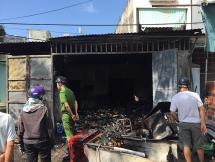 Cháy quán tạp hóa trong lúc chủ đóng cửa đi ăn trưa