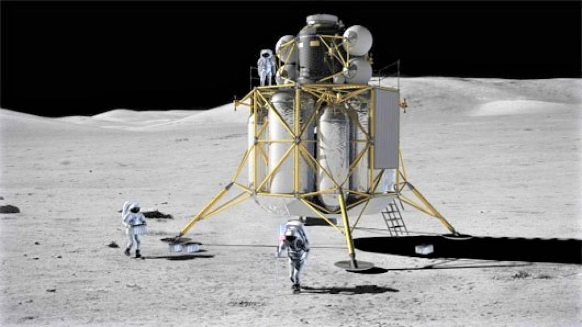 Tham vọng chinh phục Mặt Trăng đã xuất hiện từ giữa thế kỷ XX; Nguồn: universetoday.com.