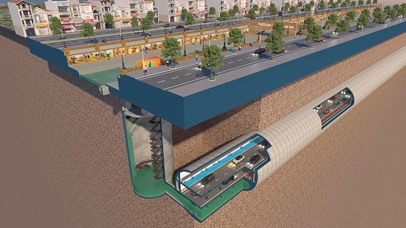 JVE lại gây sốc với đề xuất làm hầm ngầm khổng lồ kết hợp cao tốc ngầm dọc sông Tô Lịch