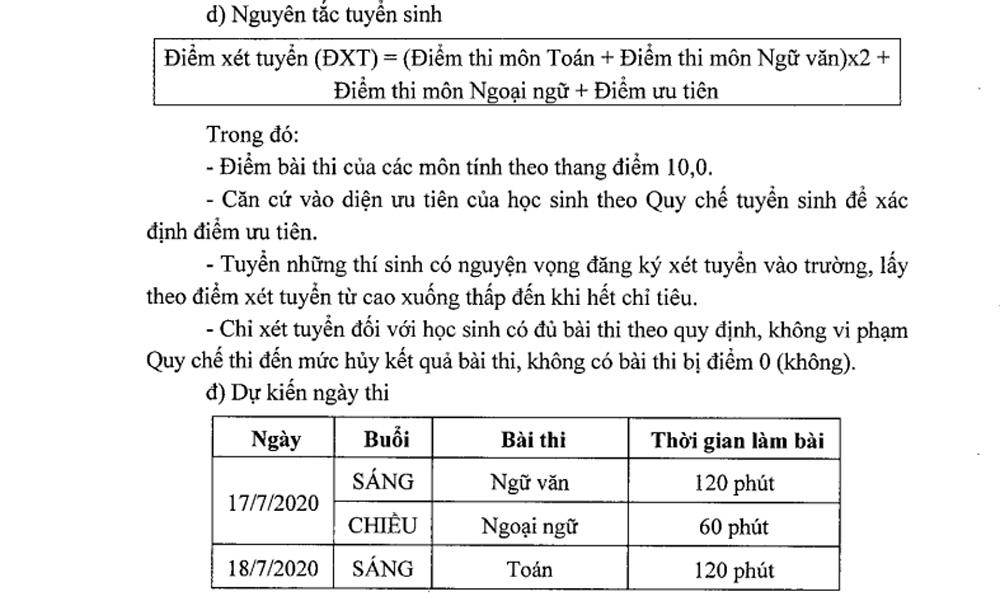 Sau khi bỏ môn thứ tư, học sinh thi vào lớp 10 ở Hà Nội cần lưu ý gì?