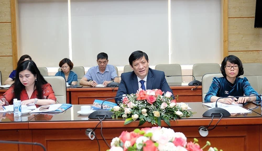 Bộ trưởng Nguyễn Thanh Long phát biểu tại buổi làm việc