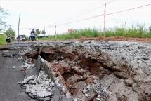 Kiên Giang: Sụt lún, sạt lở nghiêm trọng Tỉnh lộ 965