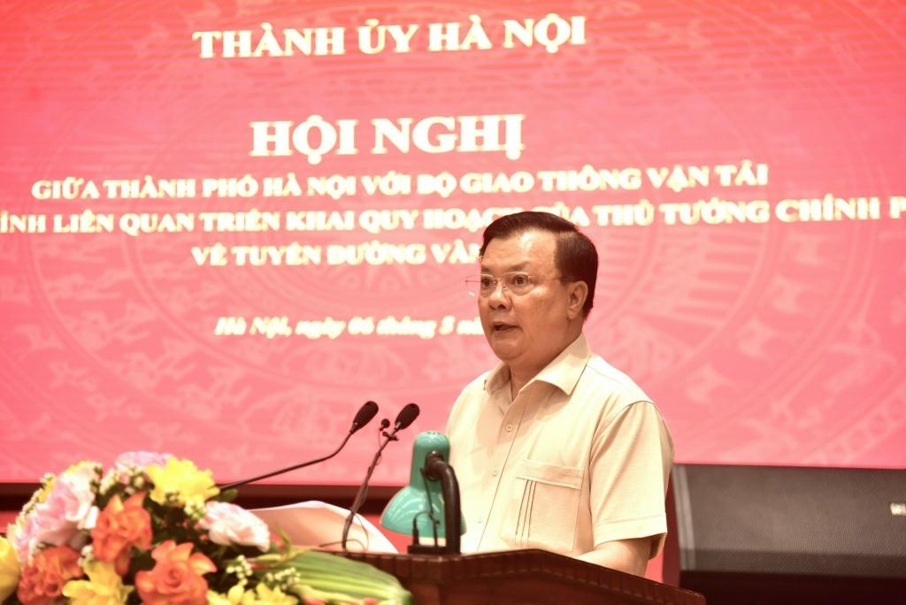 Bí thư Thành  ủy Hà Nội Đinh Tiến Dũng phát biểu mở đầu hội nghị