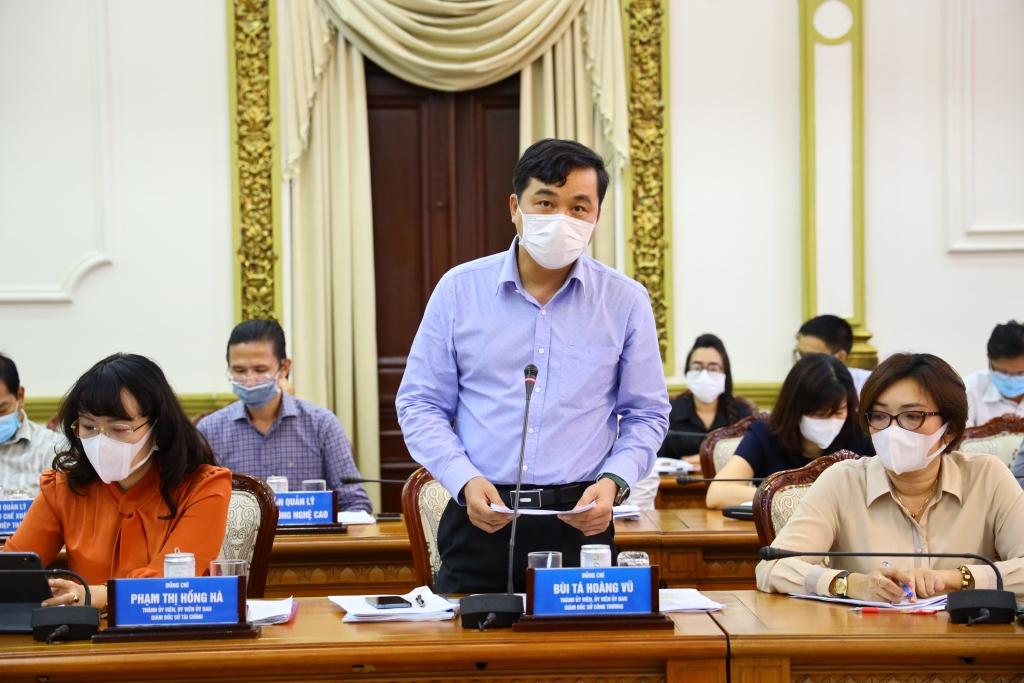 Ông Bùi Tá Hoàng Vũ, Giám đốc Sở Công thương TP Hồ Chí Minh phát biểu tại cuộc họp trong chiều 11/5.