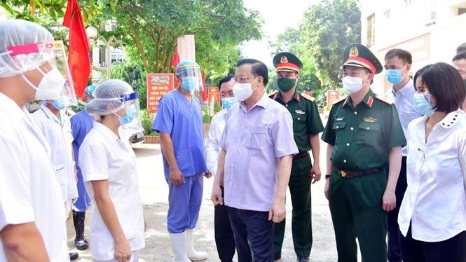 """Bí thư Thành ủy Đinh Tiến Dũng: Hà Nội sẽ gương mẫu, đi đầu chiến đấu và chiến thắng """"giặc"""" Covid-19"""