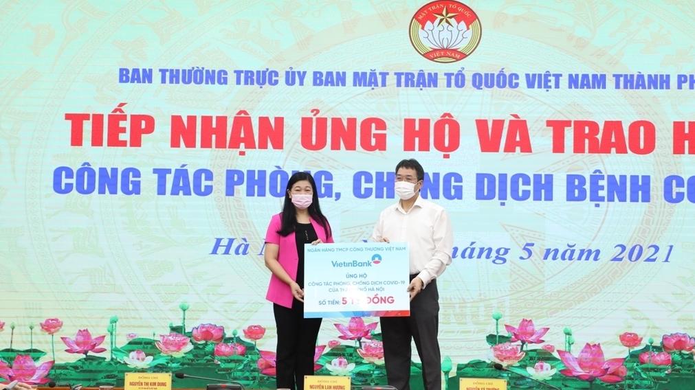 Hà Nội: Tiếp nhận hơn 12,5 tỷ đồng ủng hộ phòng, chống dịch Covid-19