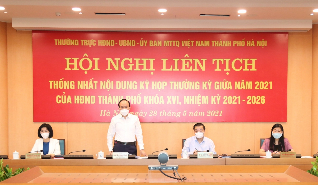 Chủ tịch HĐND TP Nguyễn Ngọc Tuấn kết luận hội nghị