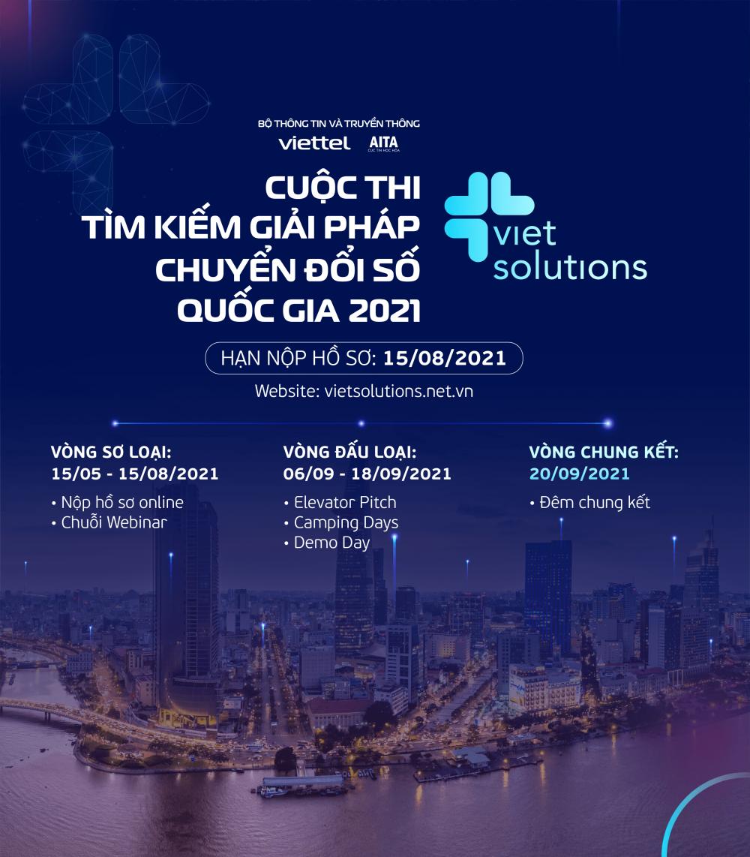 Viet Solutions 2021 tăng gấp 3 giá trị giải thưởng