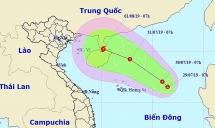 Xuất hiện áp thấp trên biển Đông đang hướng vào Việt Nam
