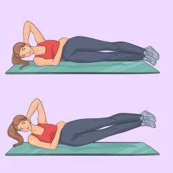 Giảm cân, giảm eo với 9 động tác thể dục mỗi ngày