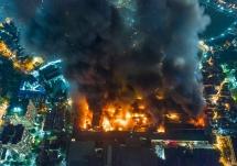 Cháy nhà máy Rạng Đông: Lửa rừng rực suốt 6 giờ, chưa có thiệt hại về người