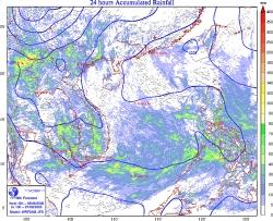 Xuất hiện vùng áp thấp trên biển Đông, mưa lớn diện rộng nhiều nơi
