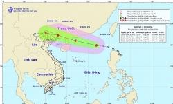 Áp thấp nhiệt đới đã mạnh lên thành bão số 4, hướng về Quảng Đông, Trung Quốc