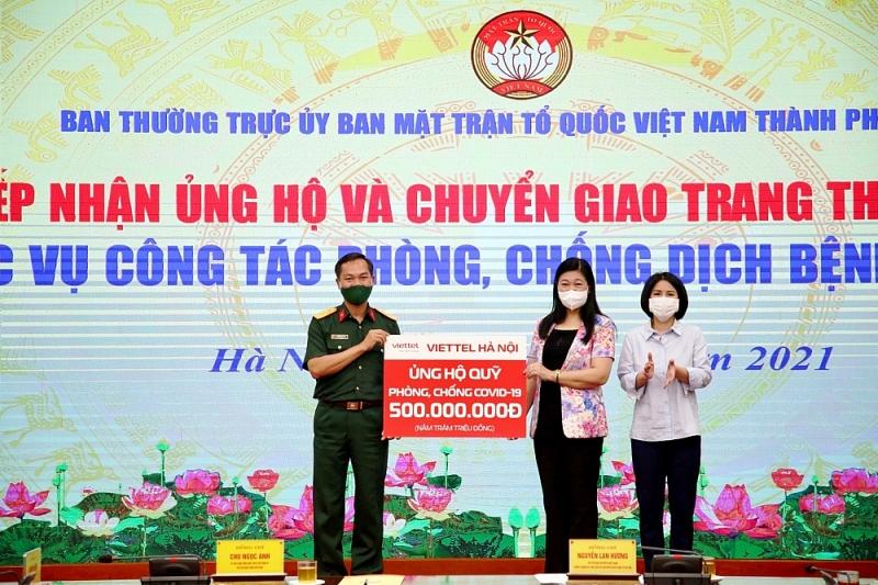 Viettel Hà Nội ủng hộ 500 triệu đồng cho công tác phòng, chống dịch Covid-19