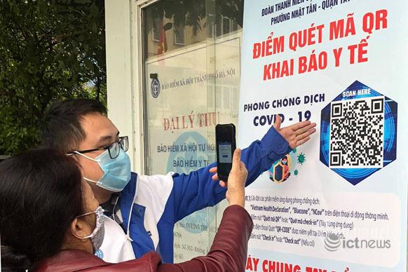 40% F0 được Hà Nội phát hiện qua sàng lọc từ dữ liệu khai báo y tế điện tử