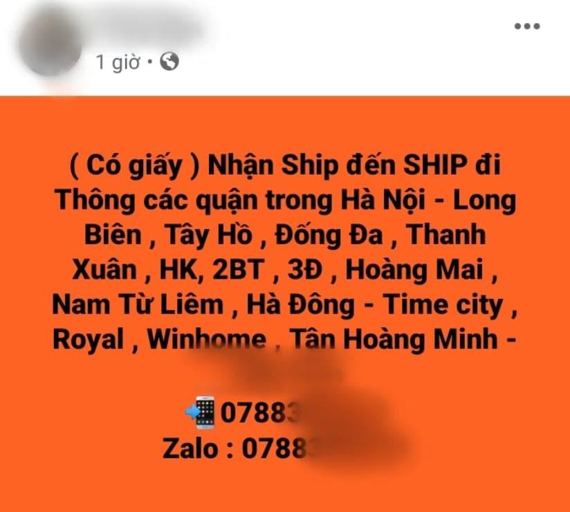 """Shipper tự do hoạt động, chạy """"chui"""" trong dịch Covid-19"""