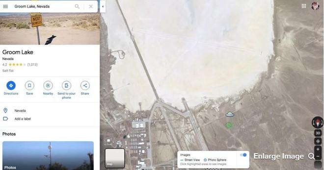 dia bay xuat hien tren google maps gan area 51