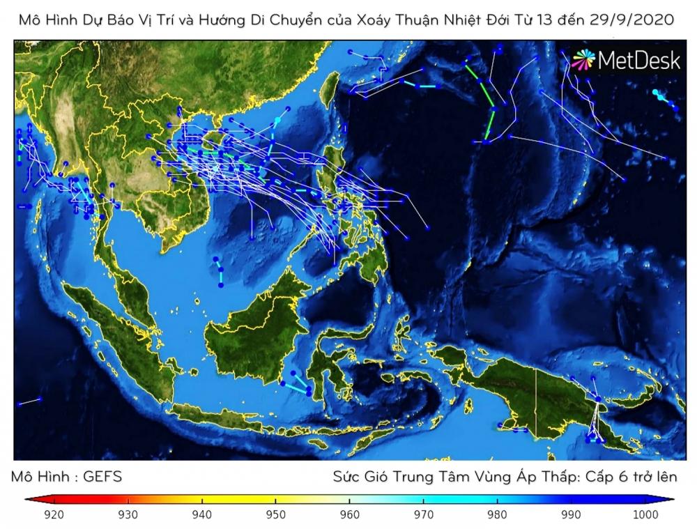 Cuối tháng 9, cảnh báo bão trên biển Đông
