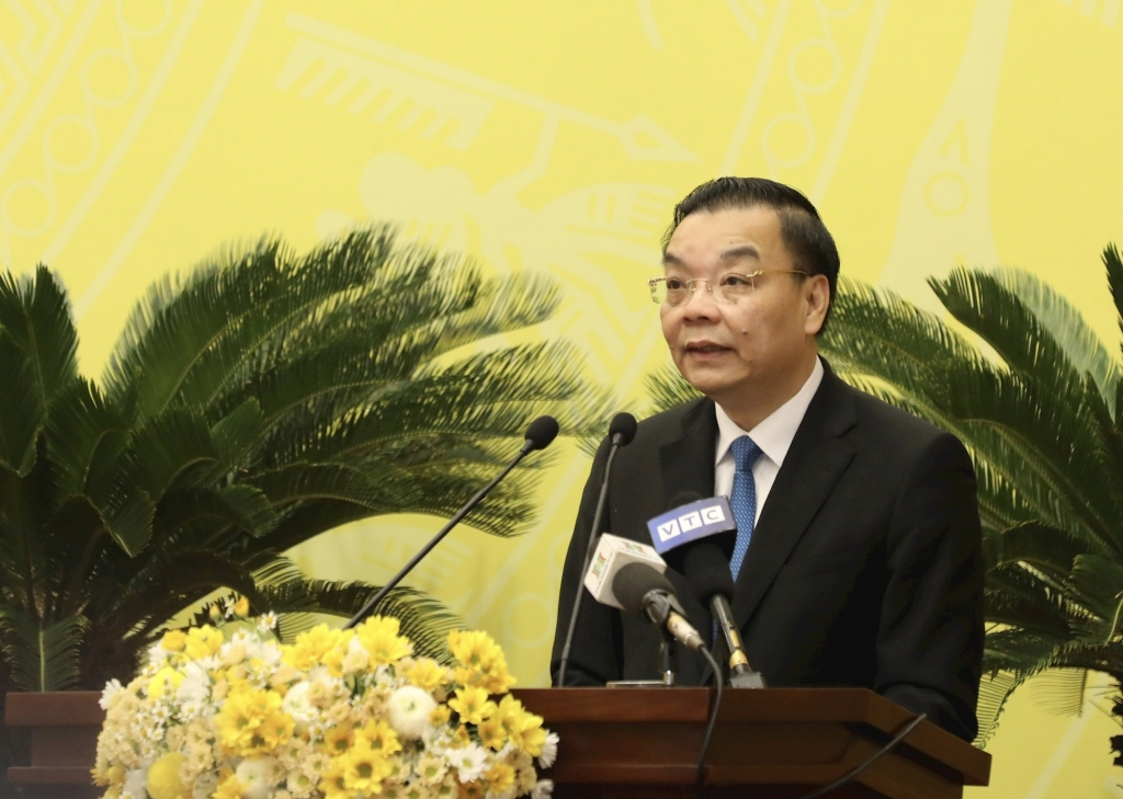 Đồng chí Chu Ngọc Anh phát biểu nhận nhiệm vụ.