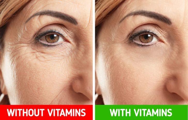 Sai lầm 2: Không bổ sung chất chống oxy hóa khiến bạn nếp nhăn hơn Vitamin A, C, E và kali rất cần thiết cho một làn da khỏe mạnh. Các chuyên gia dinh dưỡng khuyến cáo nên ăn nhiều rau hơn, đặc biệt là cà rốt, bí, cà chua và các loại rau lá xanh thẫm. Ngoài ra, bổ sung dầu ô liu trong chế độ ăn uống của bạn cũng là một cách bổ sung chất chống oxy hoá.
