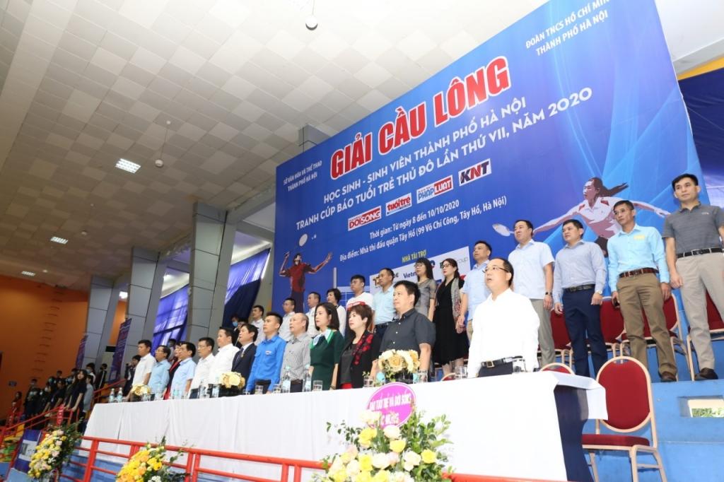Tưng bừng khai mạc Giải Cầu lông Học sinh - Sinh viên TP Hà Nội tranh Cúp Báo Tuổi trẻ Thủ đô lần VII - năm 2020