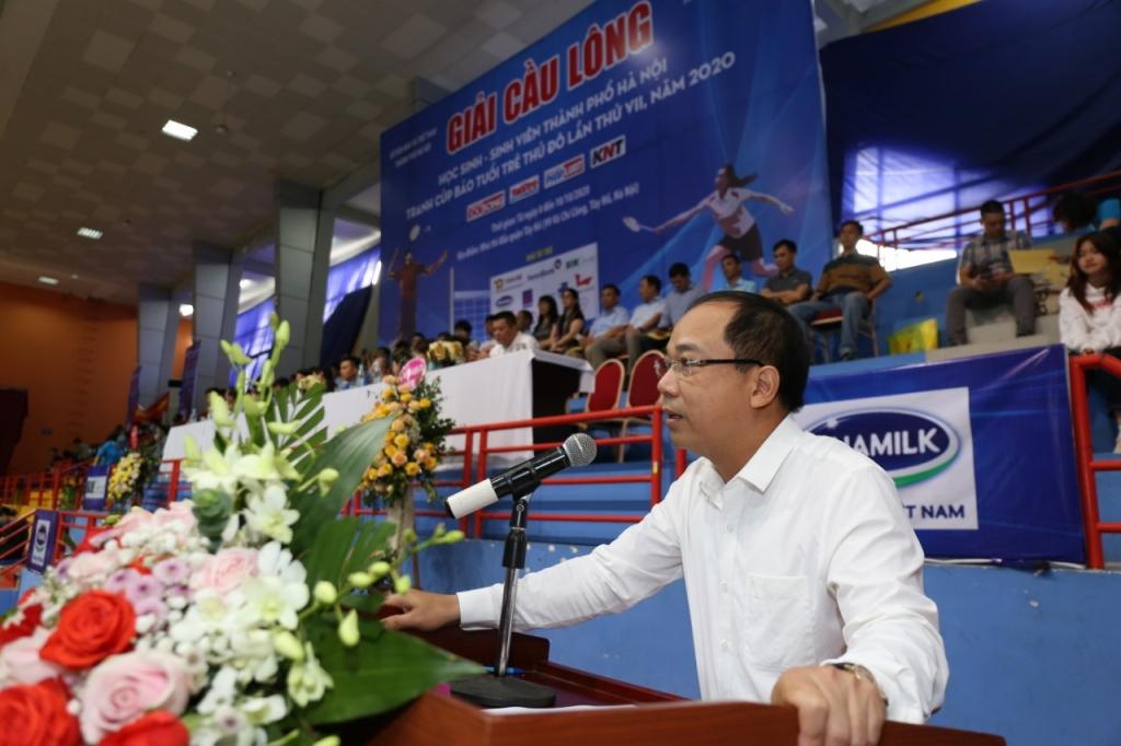 Nhà báo Nguyễn Mạnh Hưng - Tổng Biên tập báo Tuổi trẻ Thủ đô, Trưởng Ban tổ chức giải - phát biểu khai mạc