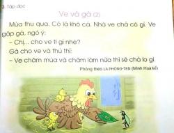 Tác giả lên tiếng về SGK Tiếng Việt 1 bị chê