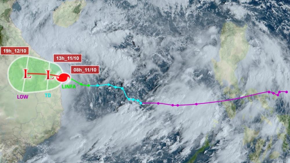 Trưa nay, bão số 6 đổ bộ, miền Trung tiếp tục mưa lớn