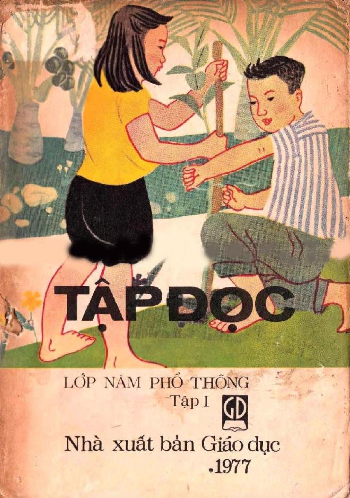 Sách Tập đọc lớp 5, năm 1977.