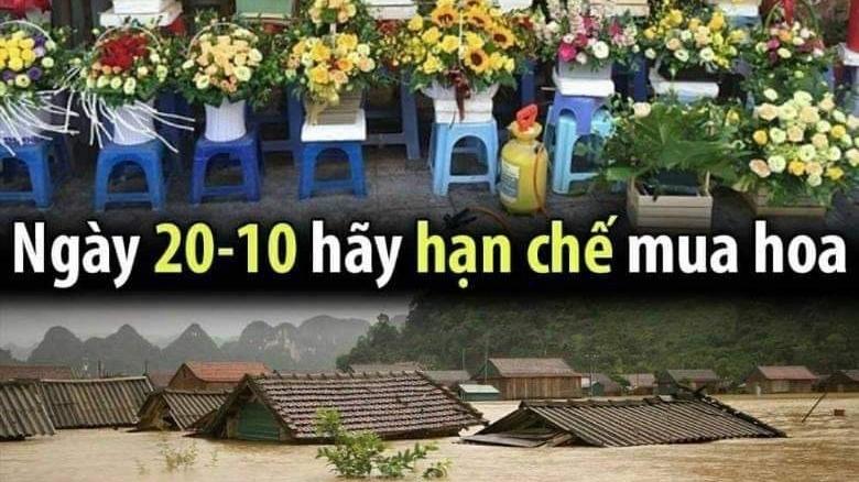 Giới trẻ kêu gọi ngày 20/10 không mua hoa, dành tiền gửi đồng bào miền Trung