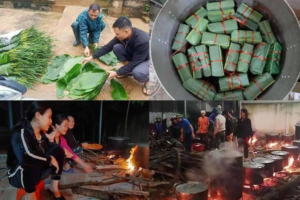 Người dân Nghệ An xuyên đêm nấu bánh chưng gửi đồng bào lũ lụt