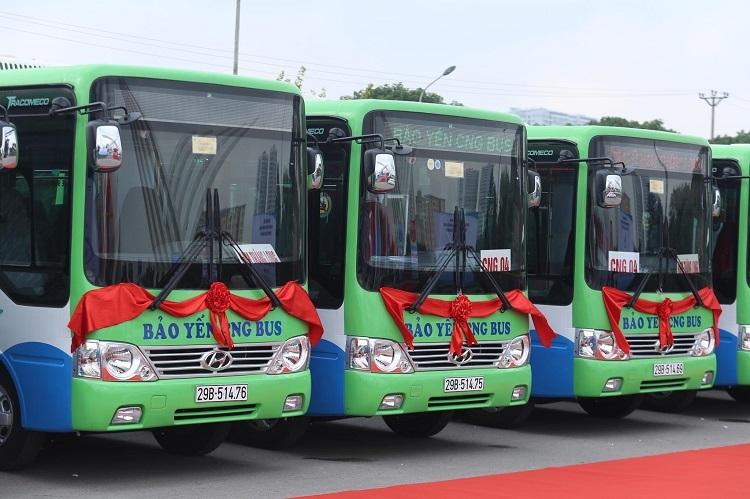 Hà Nội có thêm 4 tuyến xe buýt sạch