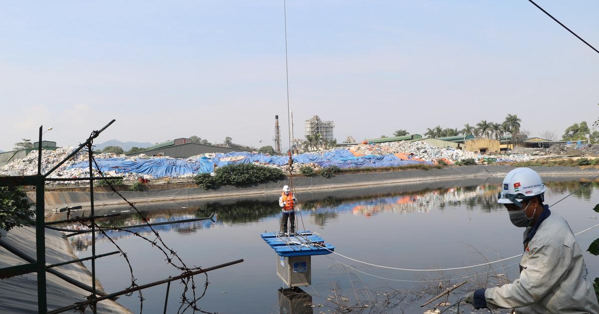 Chính thức thí điểm khử mùi bãi rác Nam Sơn bằng công nghệ Nhật Bản