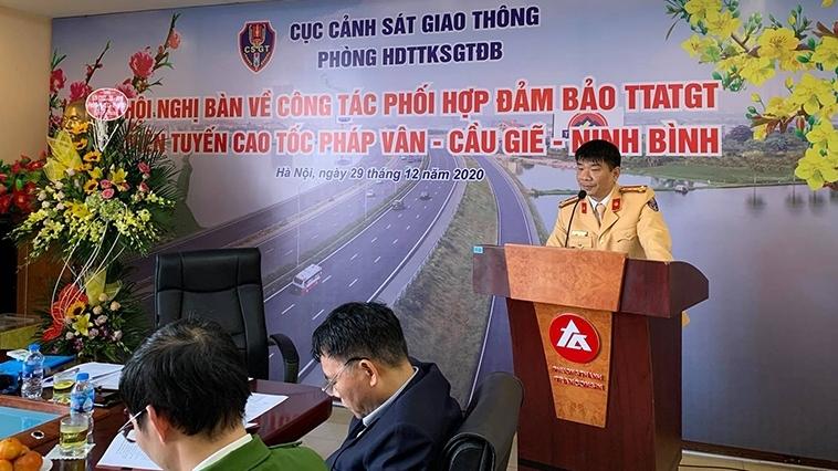 Tăng cường đảm bảo trật tự an toàn giao thông trên tuyến cao tốc Pháp Vân - Cầu Giẽ - Ninh Bình